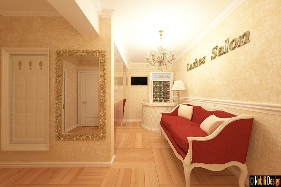 Interior luxury design beauty salon in Monaco