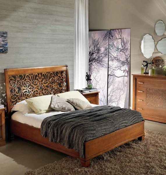 Classic bedroom furniture made of wood Harmony 2