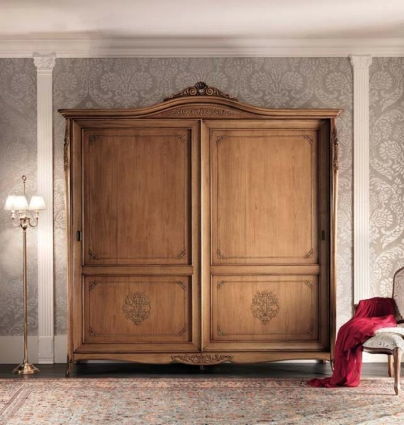 Classic bedroom wardrobe with 2 doors made of wood Gran Guardia 2