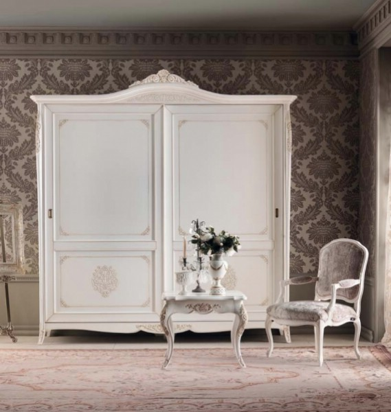 Classic bedroom wardrobe with 2 doors made of wood Gran Guardia 3