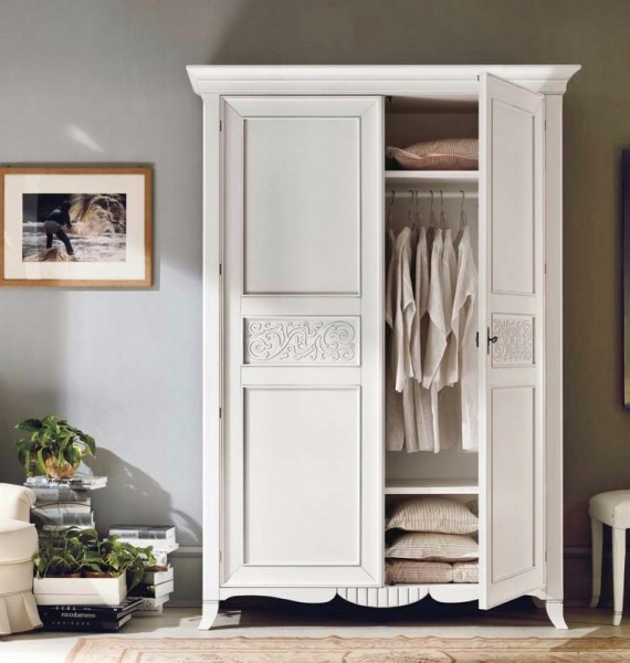 Classic bedroom wardrobe made of wood New Deco 3