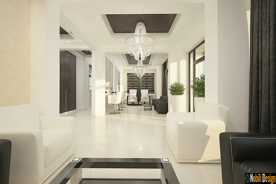 Sleek beauty salon interior design concept 4