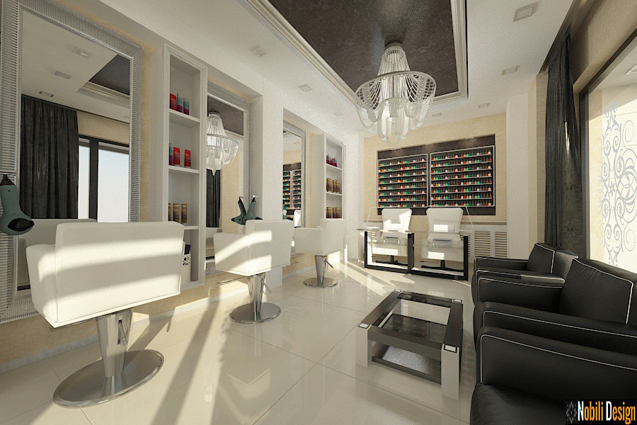 Sleek beauty salon interior design concept 7