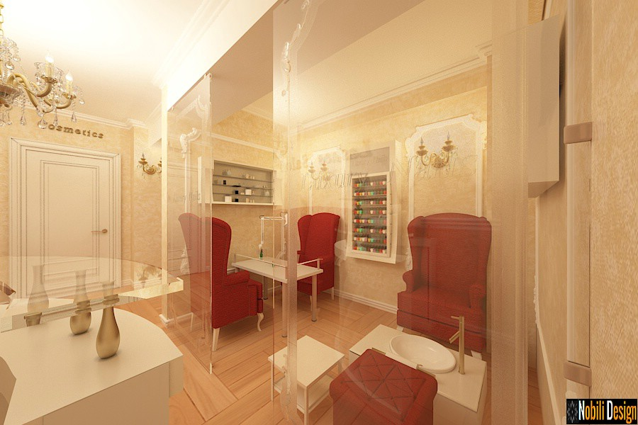 Elegant beauty salon interior design project