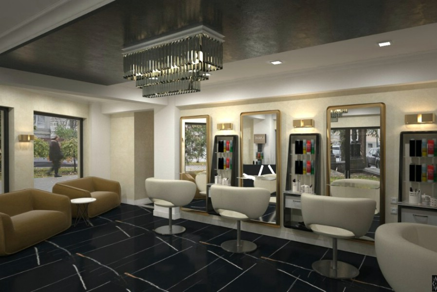Luxury beauty salon interior design
