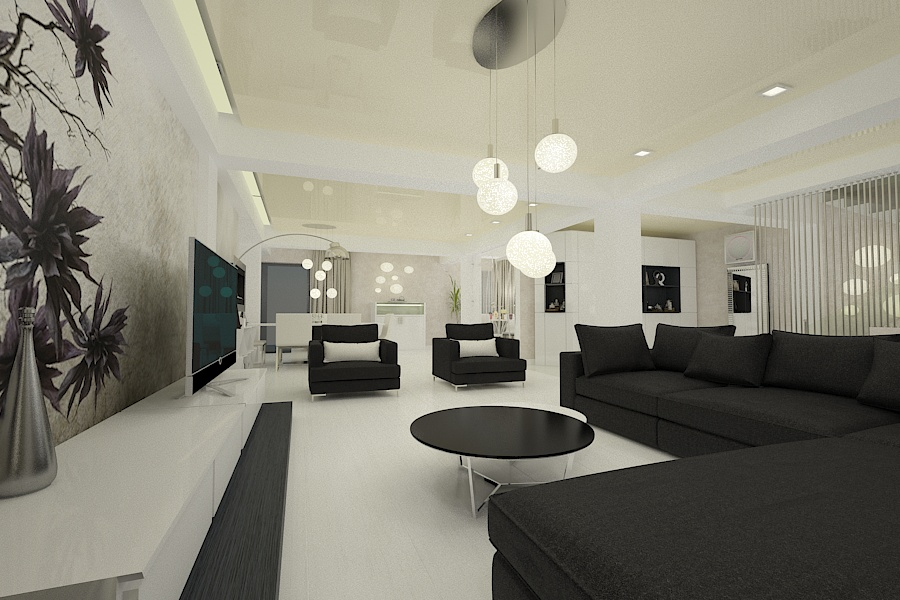 Contemporary style interior design project for a home 1