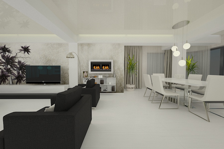 Contemporary style interior design project for a home 3