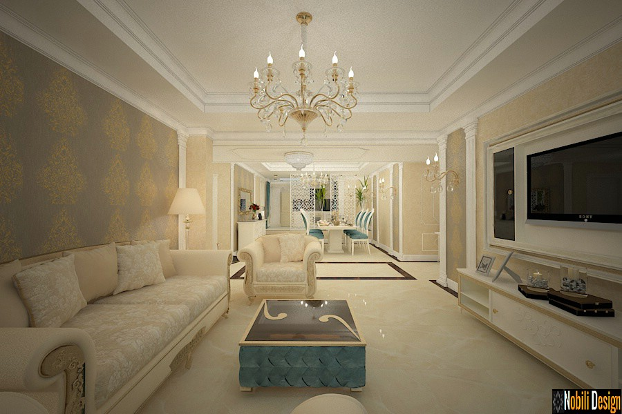 Elegant luxury classic interior design project for an apartment in London