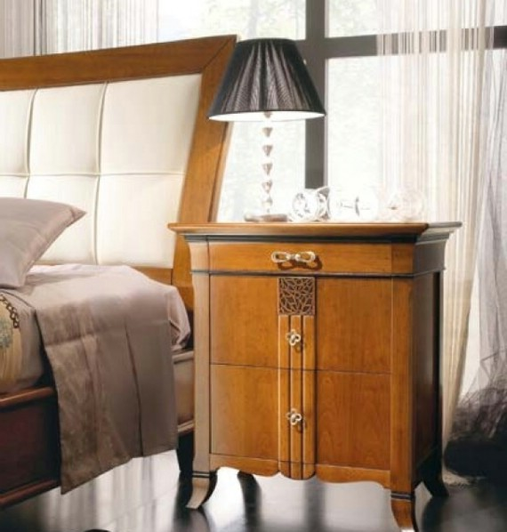 New Deco classic upholstered beds made of wood 10