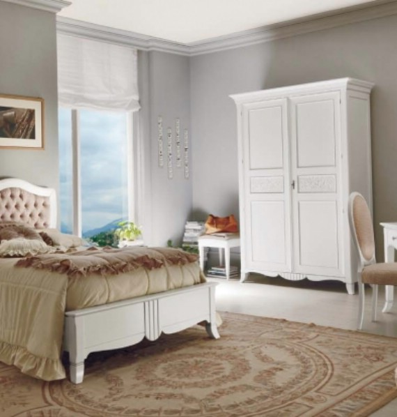 New Deco classic upholstered beds made of wood 4