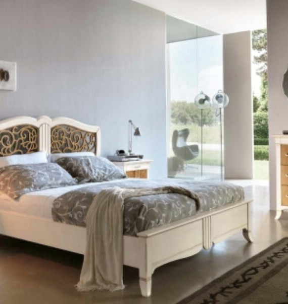 New Deco classic upholstered beds made of wood 7