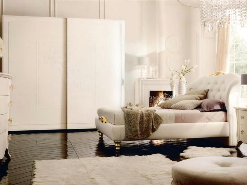 Classic luxury white bedroom furniture Chloe