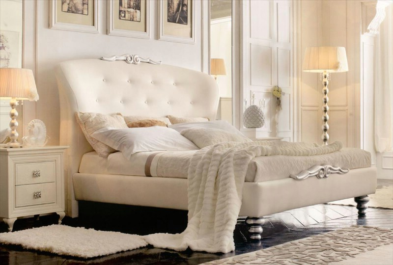 Classic luxury white bedroom furniture Chloe 2