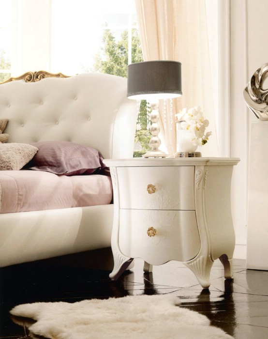Classic luxury white bedroom furniture Chloe 4