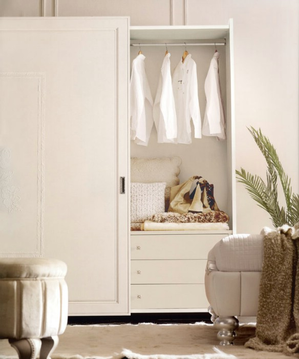 Classic luxury white bedroom furniture Chloe 8