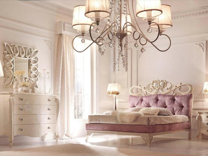 Classic luxury white bedroom furniture Charlotte