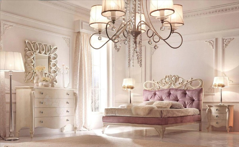 Classic luxury white bedroom furniture Charlotte 1