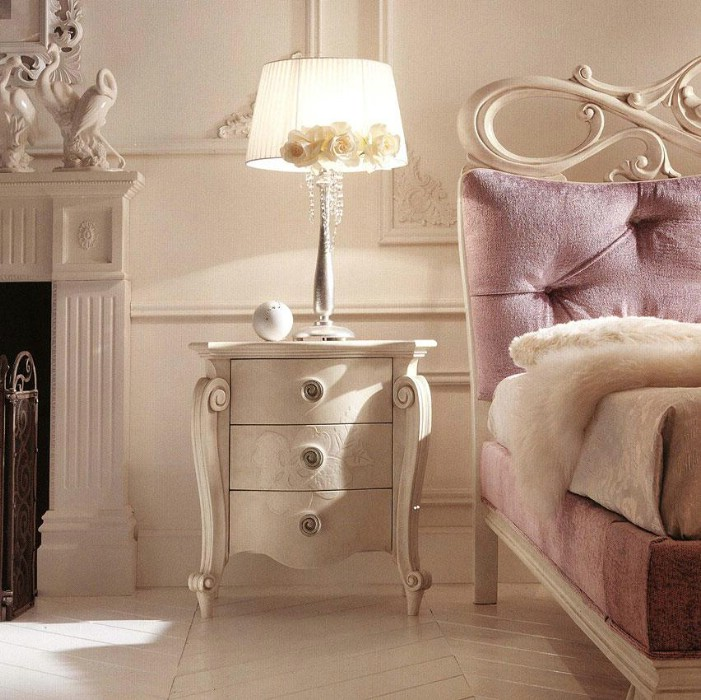 Classic luxury white bedroom furniture Charlotte 3