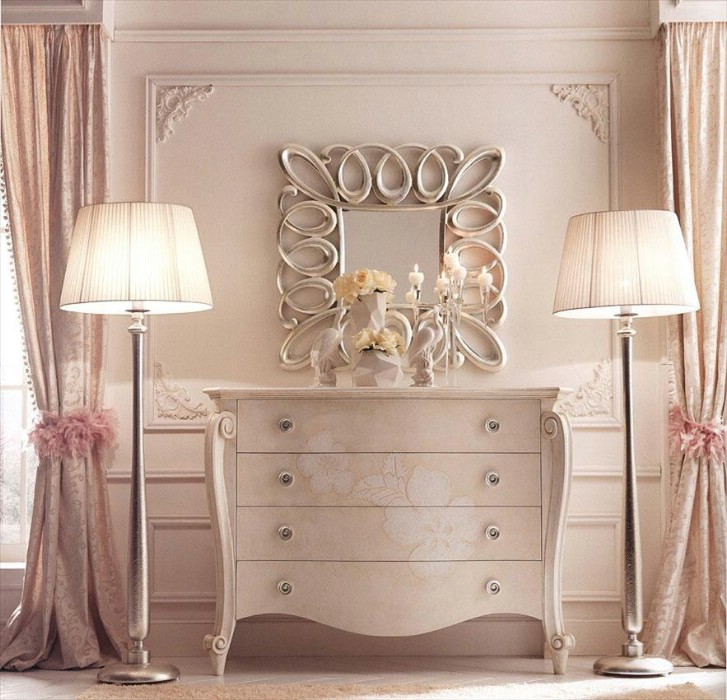 Classic luxury white bedroom furniture Charlotte 4