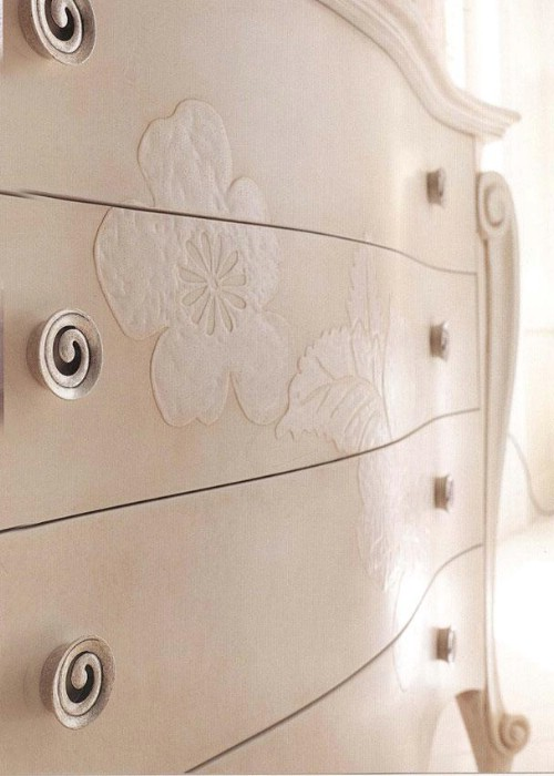 Classic luxury white bedroom furniture Charlotte 5