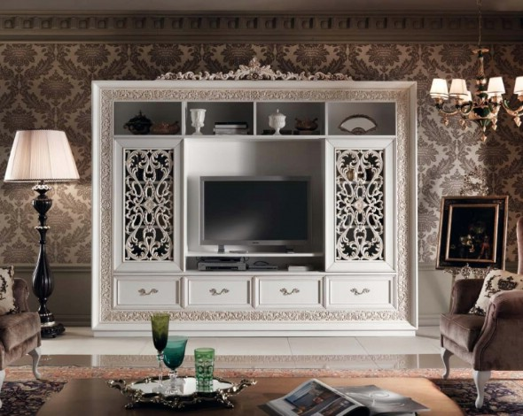 Классическая роскошная гостиная витрина Granguardia 3