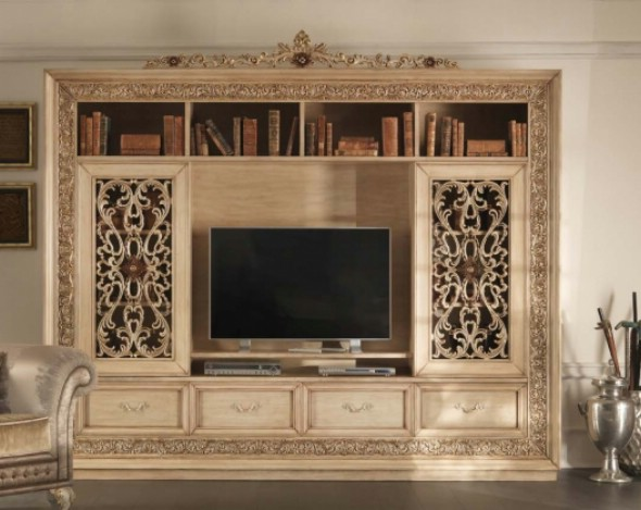 Классическая роскошная гостиная витрина Granguardia 4