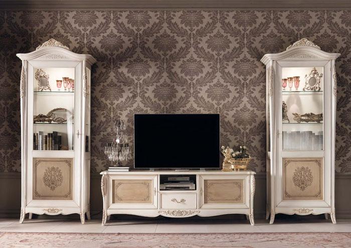 Классическая роскошная гостиная витрина Granguardia 5