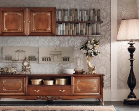 Классическая роскошная гостиная витрина Granguardia 7