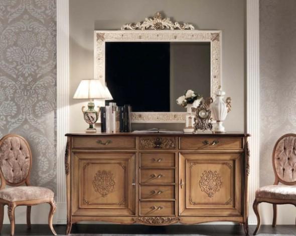 Классическая роскошная гостиная витрина Granguardia 9