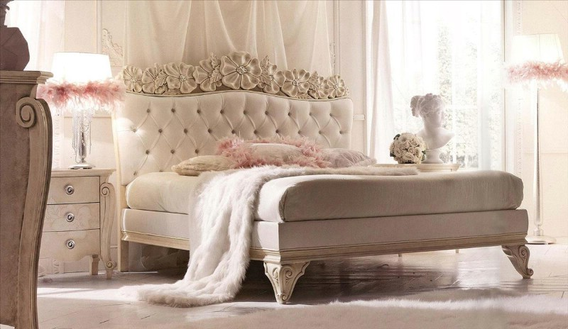 Classic luxury bedroom furniture Amelie White 2