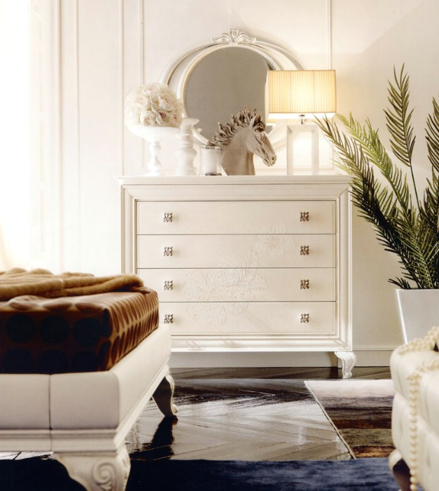 Classic luxury bedroom furniture Amelie White 3