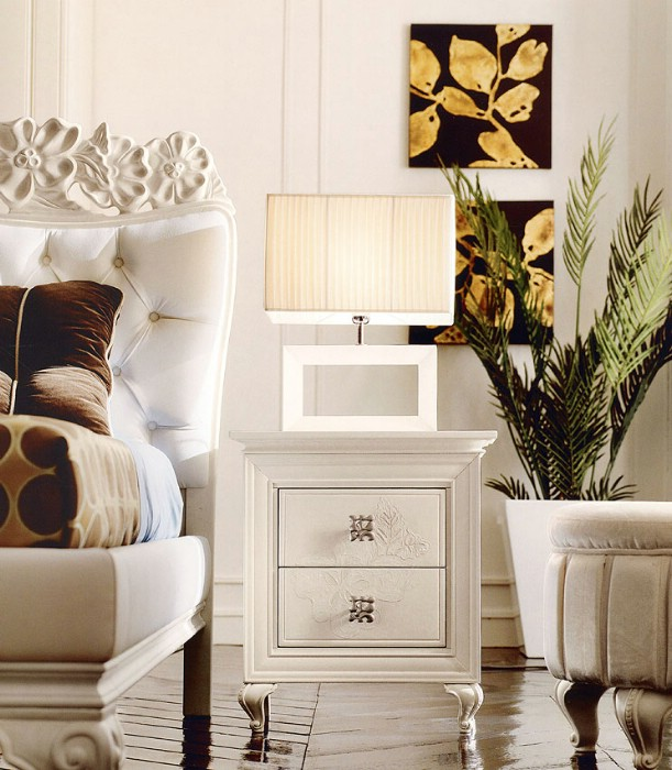 Classic luxury bedroom furniture Amelie White 4