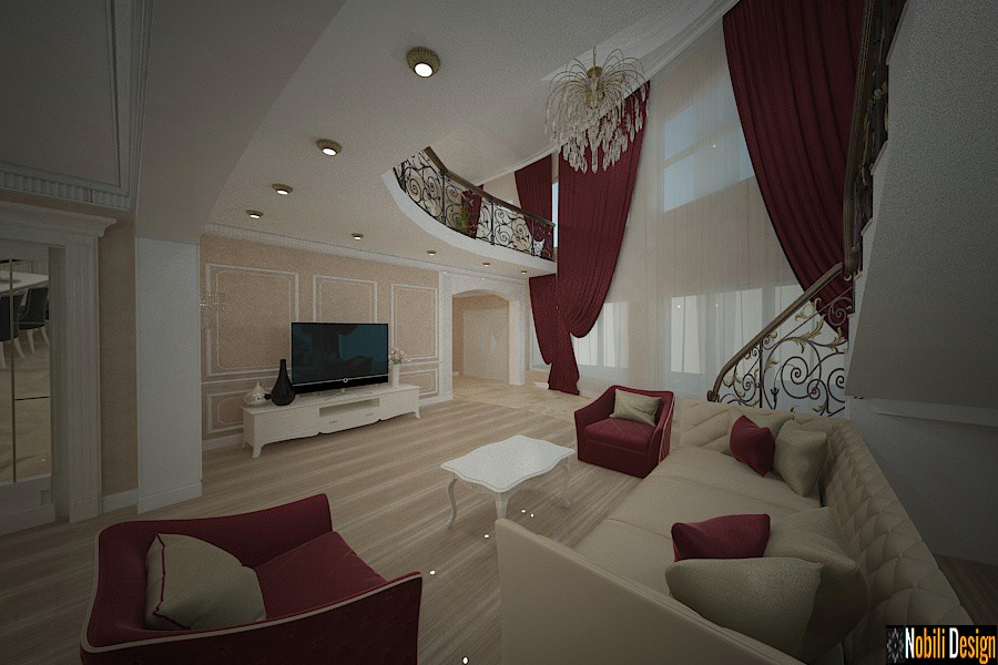 Interior design for a classic style luxury villa