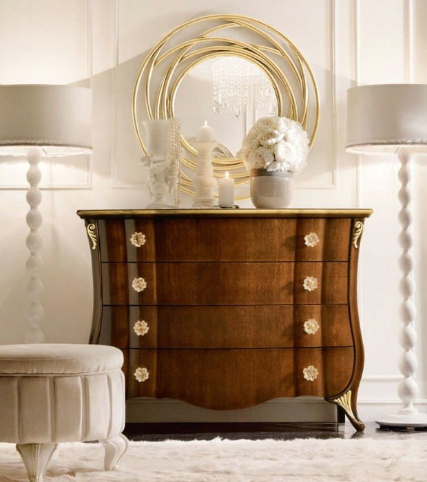 Classic luxury bedroom furniture Chloe 5