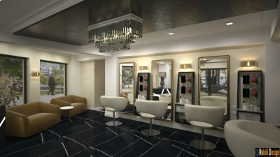 Beauty Salon Interior Design In Luxembourg | Hair Salon Design Project in Luxembourg