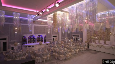 Interior Design Event Ballroom in Helsinki Finland - Wedding Salon Design Project in Helsinki Finland