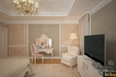 Classic bedroom concept Paris