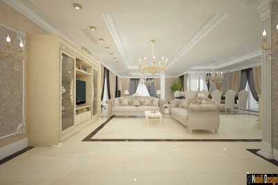 Classic villa interior design in Prague