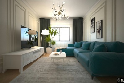 Interior design 3 Bedroom Apartment in Budapest