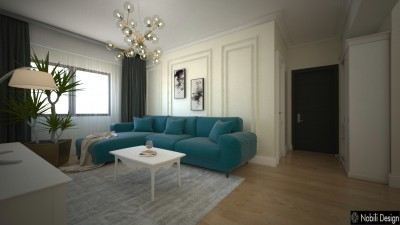 Living Rom interior design apartament classic modern (3)