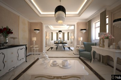 Classic style interior design - Luxury villas houses Lomé