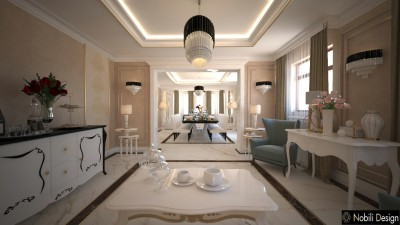New classic style house interior design in Ankara Turkey