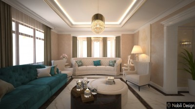 Luxury classic house interior design concept in Ajman