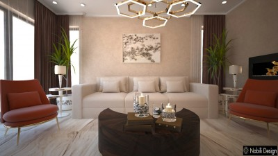Classic Ajman house interior design - Residential design projects in Ajman