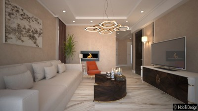 Classic Living Room for Yamoussoukro two-leveled house