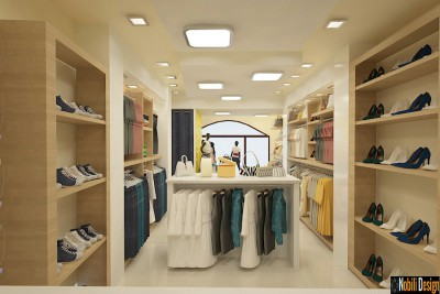 Interior design clothes shop in Barcelona