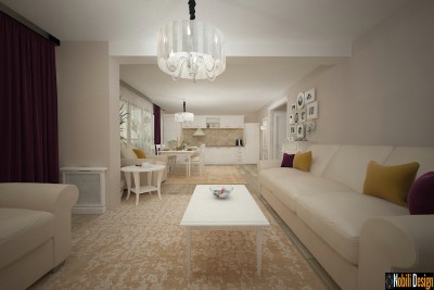 Interior design for classic style house in Barcelona