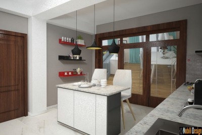 Interior design for modern house in Hamburg Germany