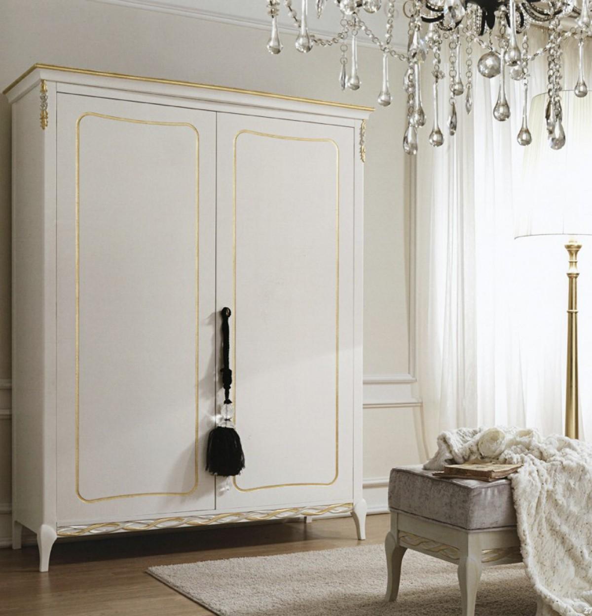 Armoire 2 portes chambre classique en bois