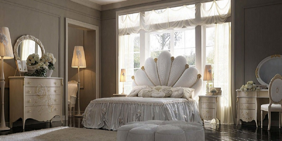 Luxury italian bedroom furniture | Classic bedroom Khartoum | Bed upholstery price